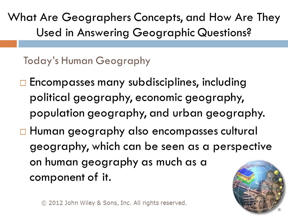 Today's Human Geography