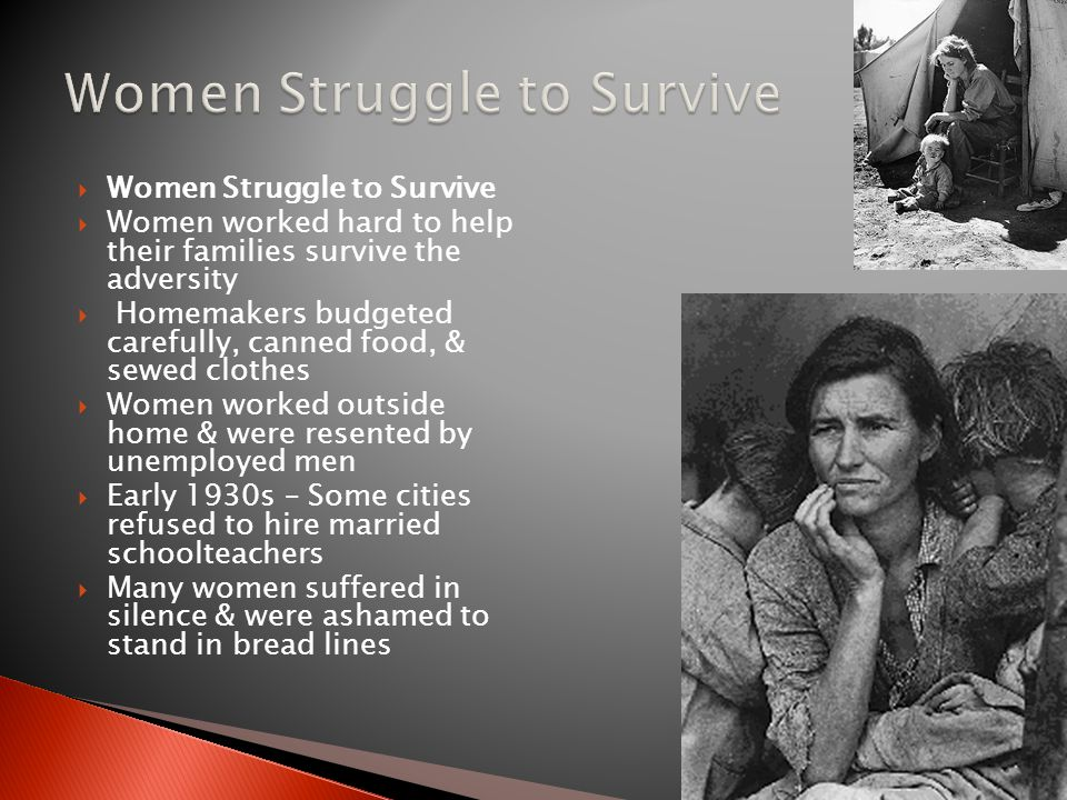Women Struggle to Survive