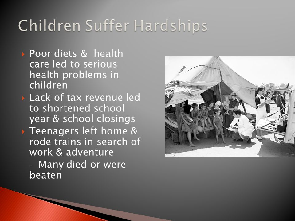 Children Suffer Hardships