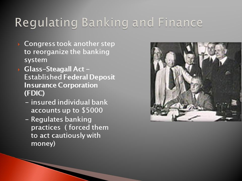 Regulating Banking and Finance