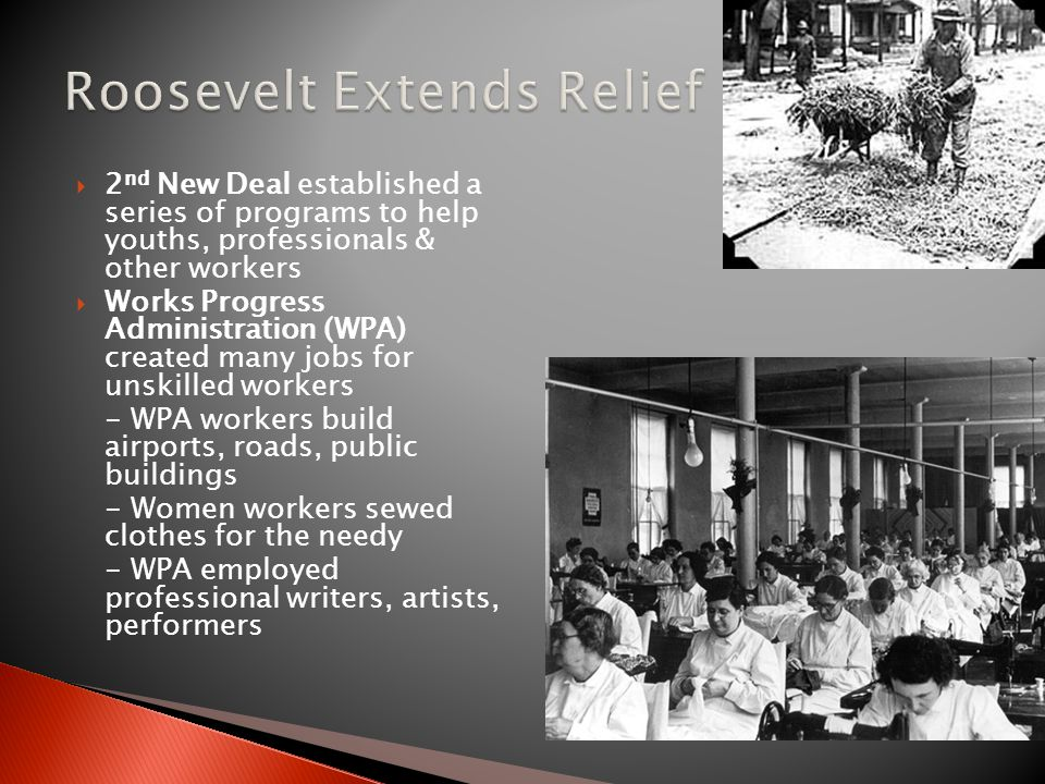 Roosevelt Extends Relief