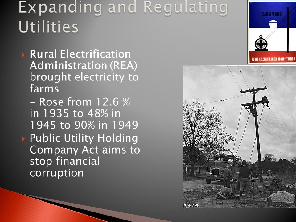 Expanding and Regulating Utilities