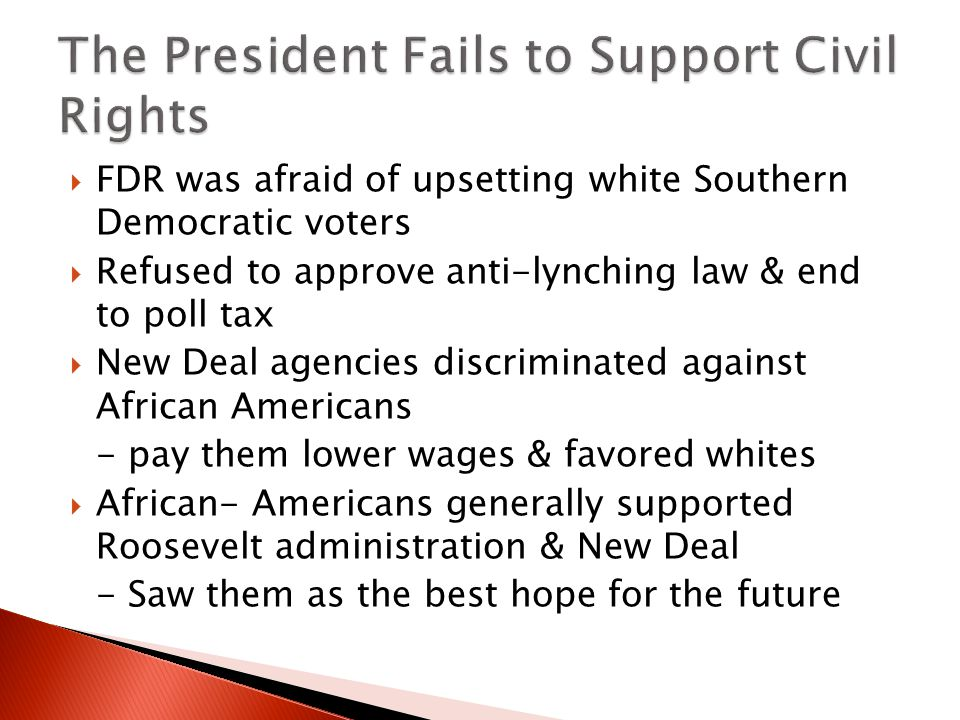 The President Fails to Support Civil Rights