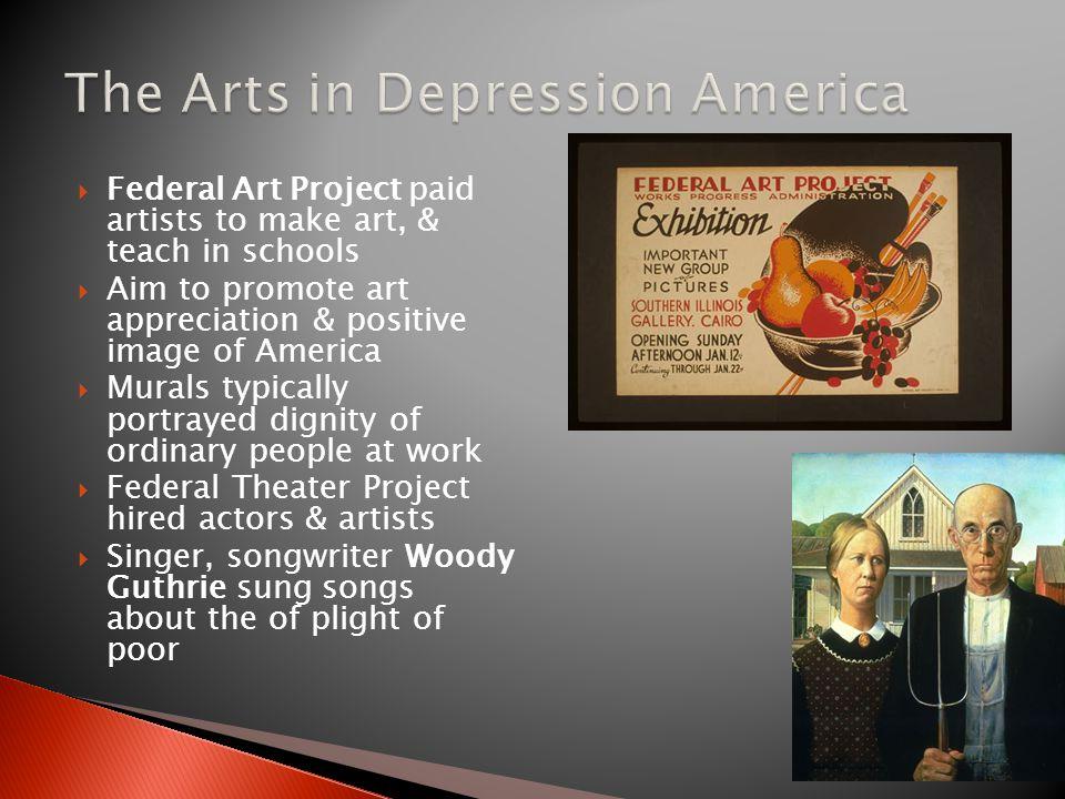 The Arts in Depression America