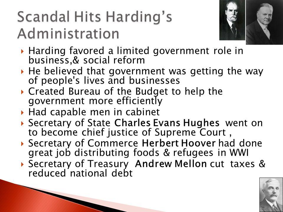 Scandal Hits Harding's Administration