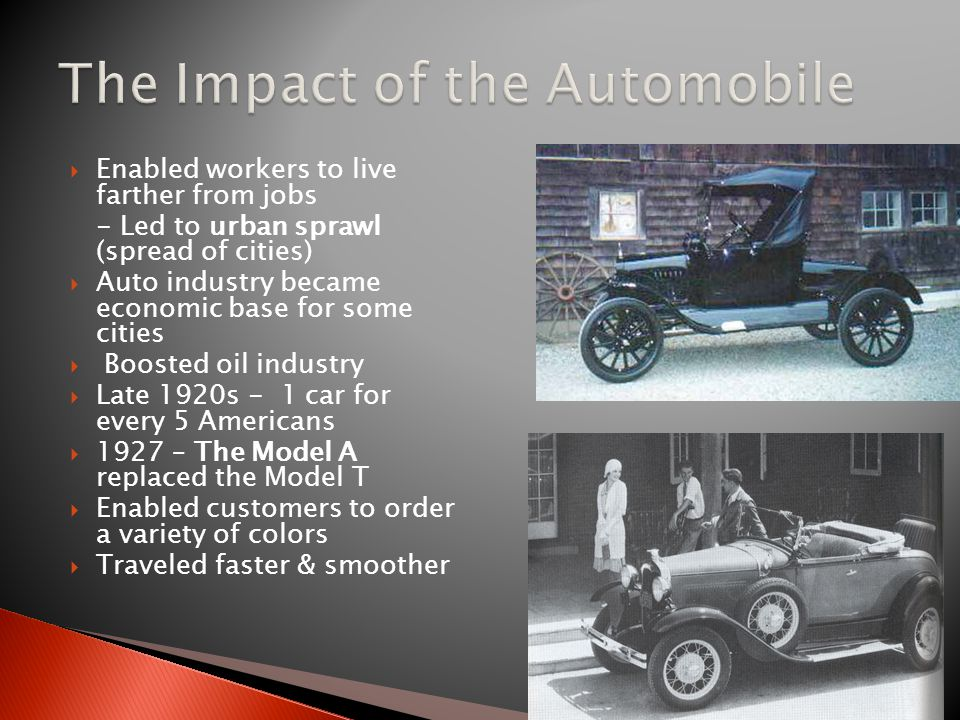 The Impact of the Automobile