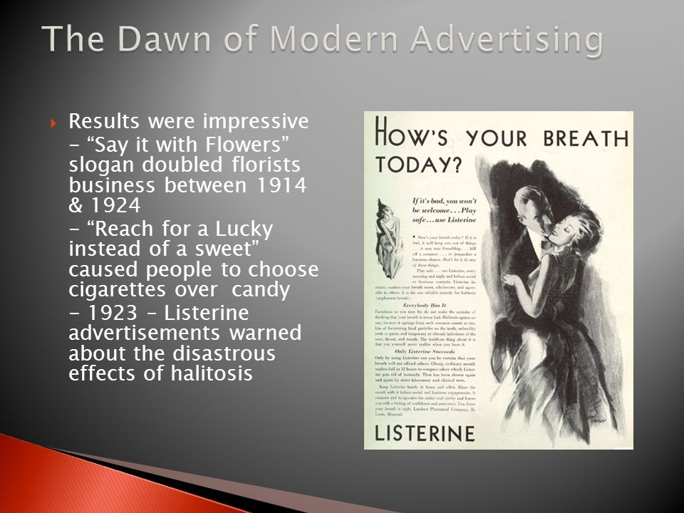 The Dawn of Modern Advertising