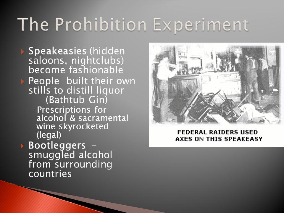 The Prohibition Experiment