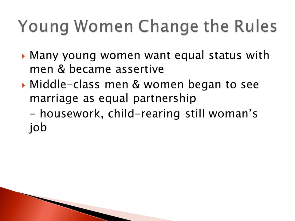Young Women Change the Rules