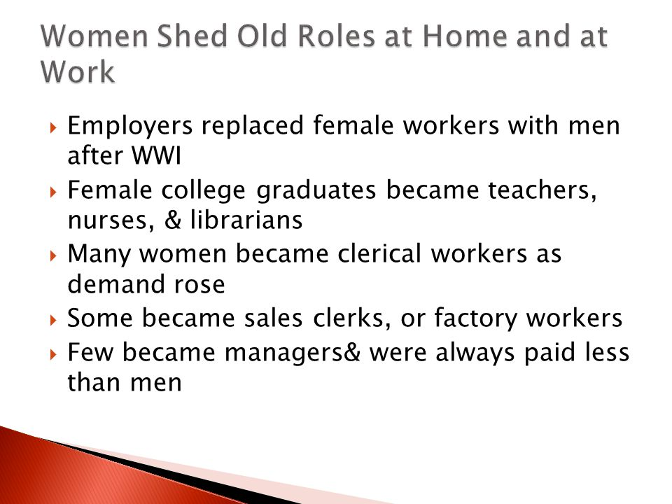 Women Shed Old Roles at Home and at Work