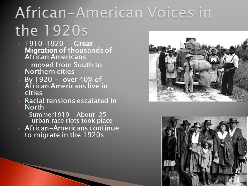 African-American Voices in the 1920s