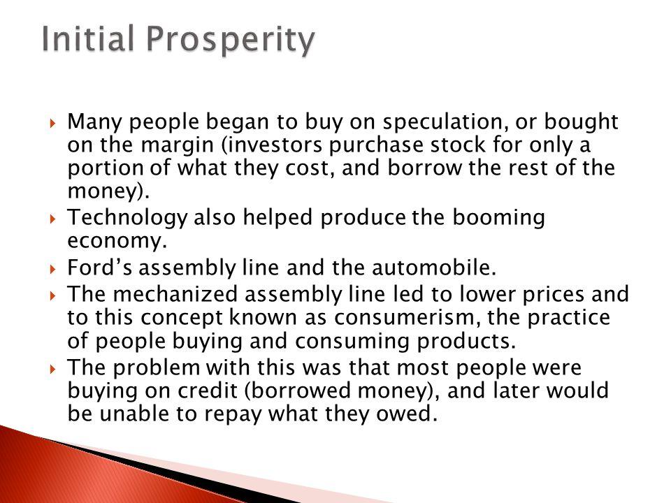 Initial Prosperity