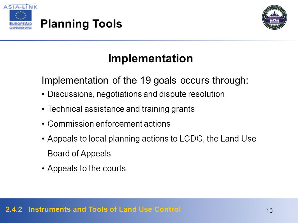 Planning Tools Implementation