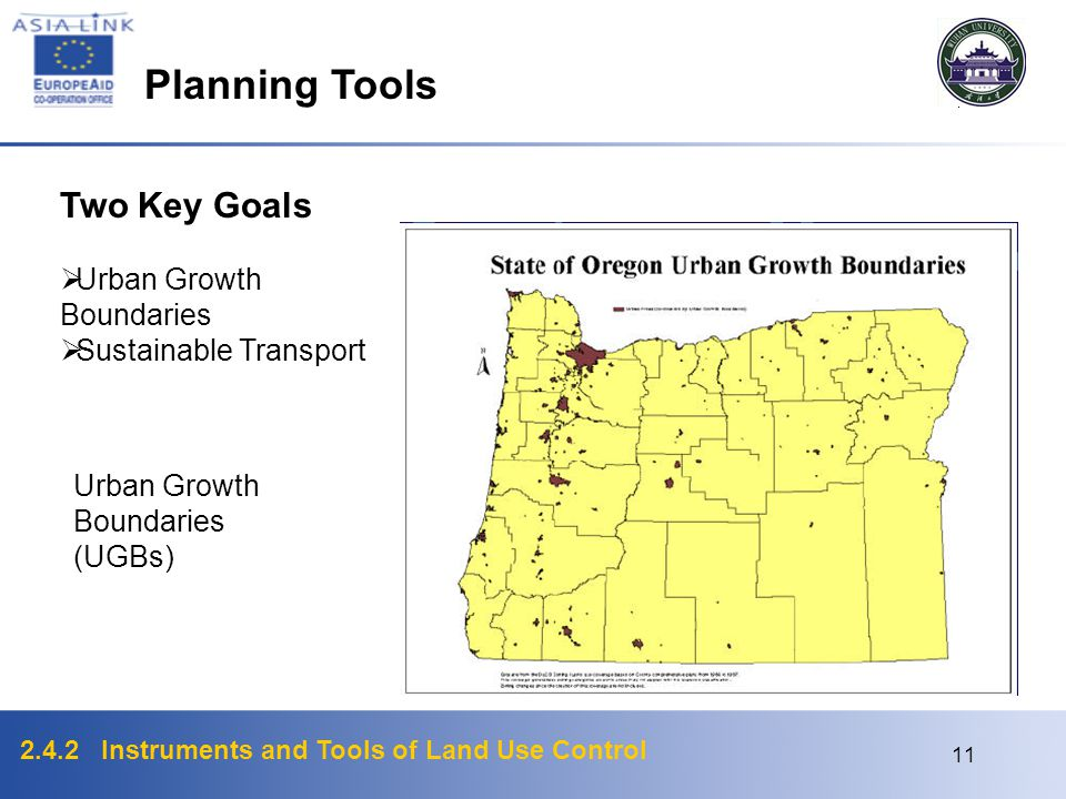 Planning Tools Two Key Goals Urban Growth Boundaries