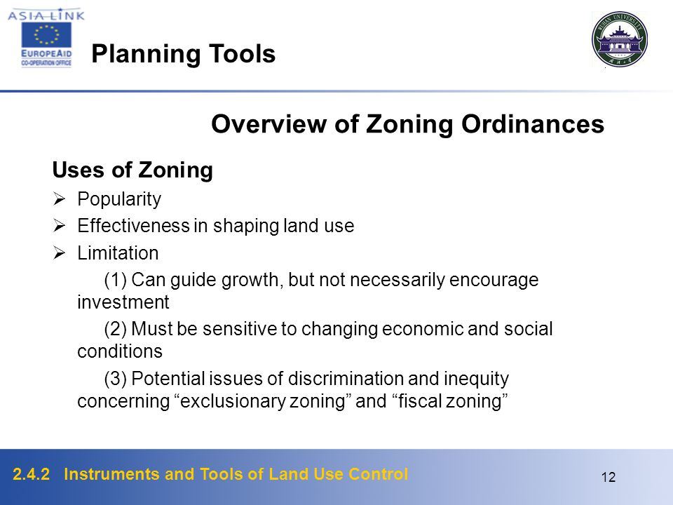 Overview of Zoning Ordinances