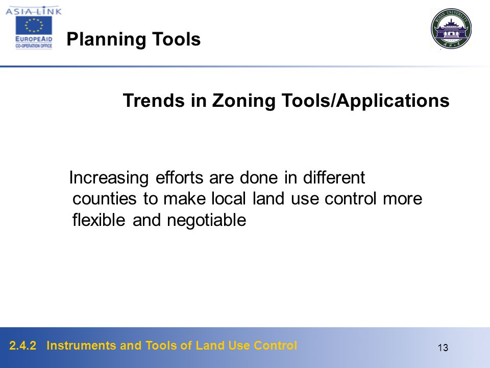 Trends in Zoning Tools/Applications