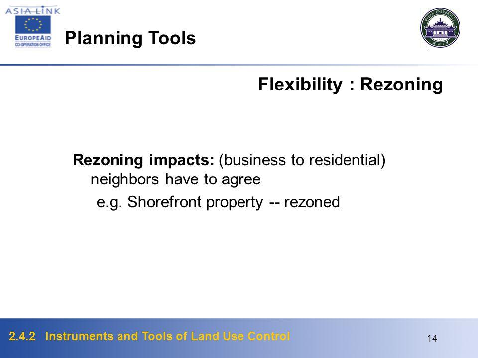 Flexibility : Rezoning