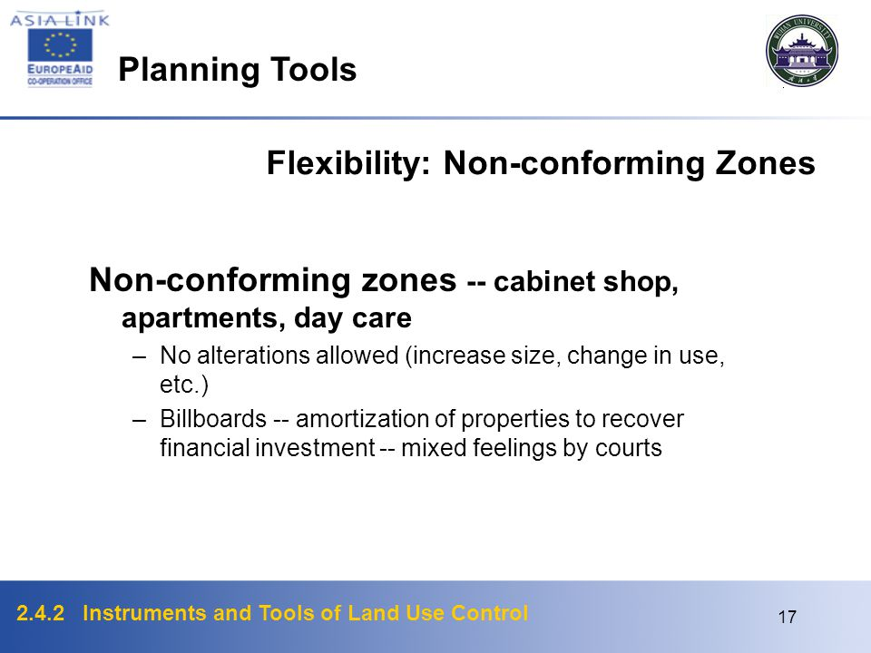 Flexibility: Non-conforming Zones