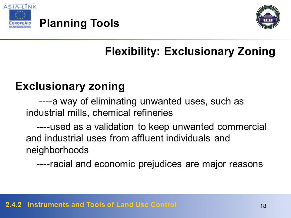 Flexibility: Exclusionary Zoning