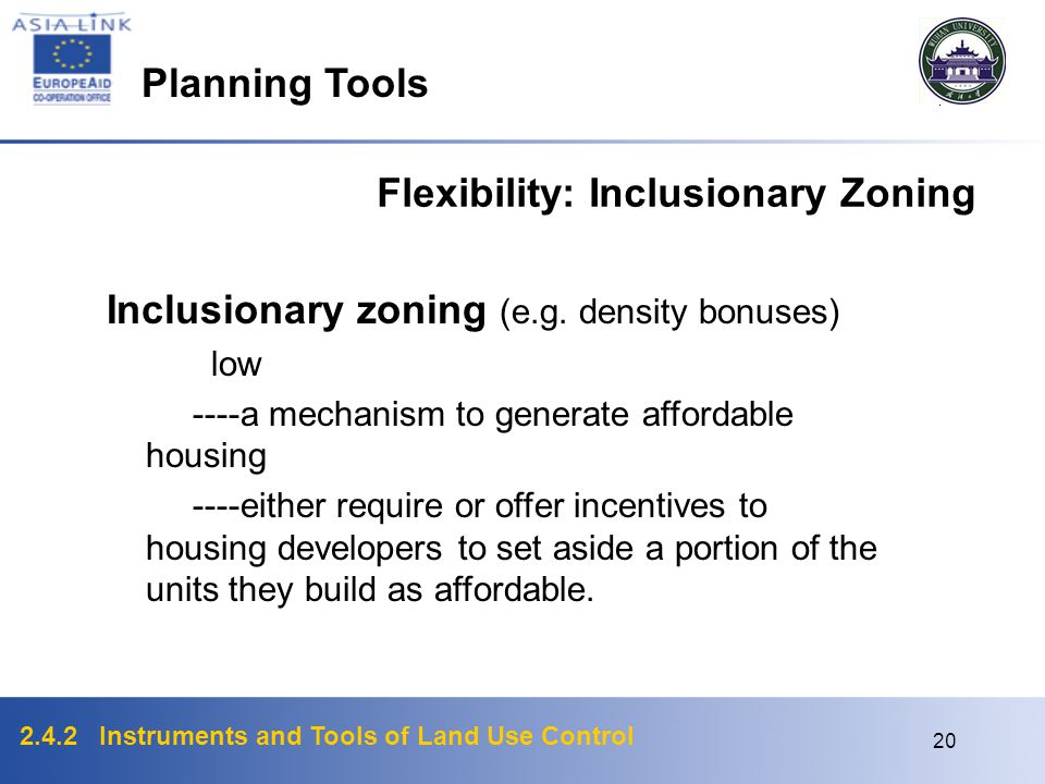 Flexibility: Inclusionary Zoning