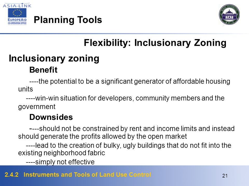 Flexibility: Inclusionary Zoning