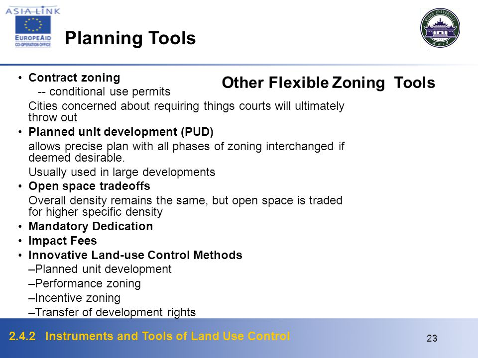 Planning Tools Other Flexible Zoning Tools Contract zoning