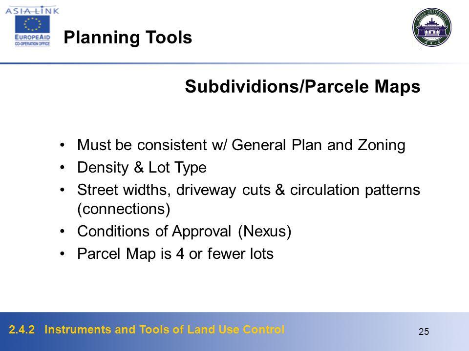 Subdividions/Parcele Maps