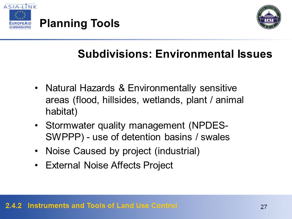 Subdivisions: Environmental Issues