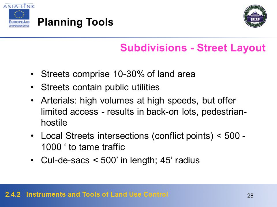 Subdivisions - Street Layout