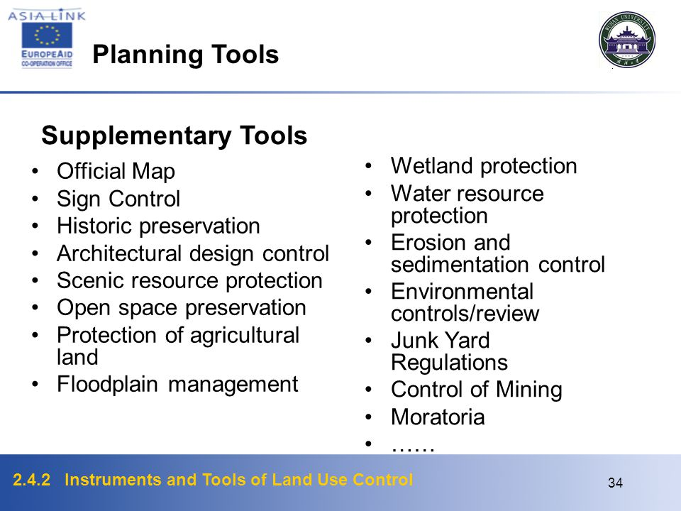 Planning Tools Supplementary Tools Wetland protection