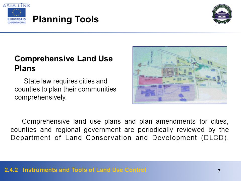 Planning Tools Comprehensive Land Use Plans