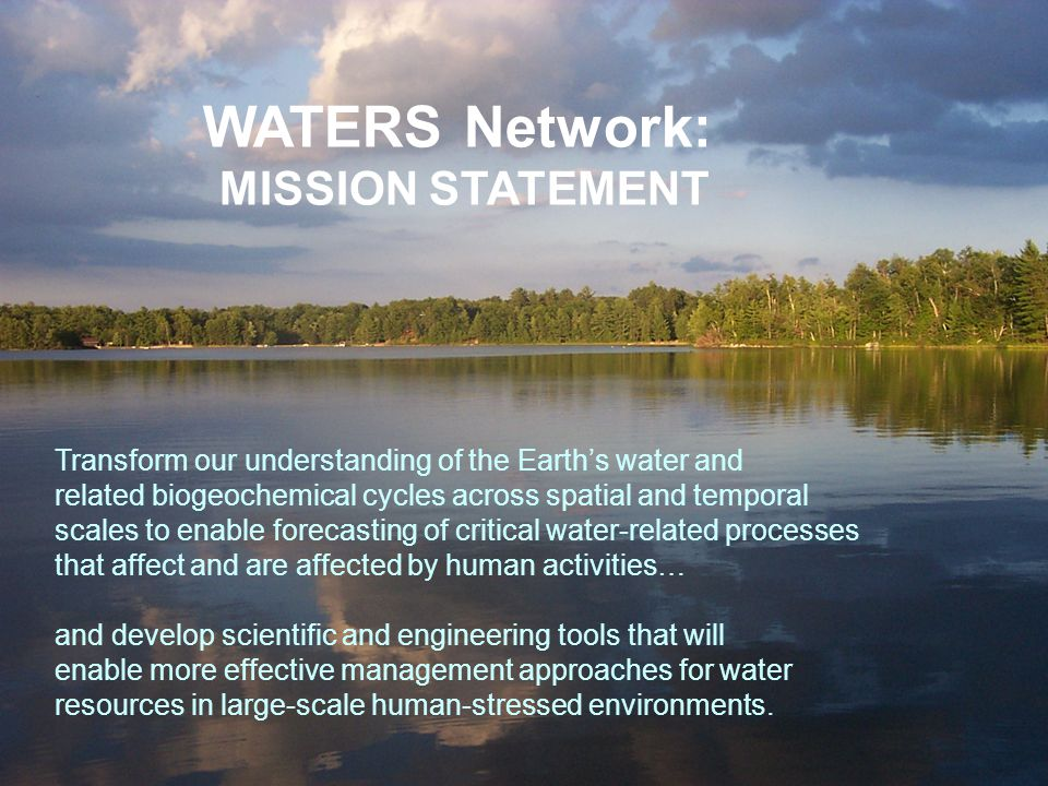 WATERS Network: MISSION STATEMENT