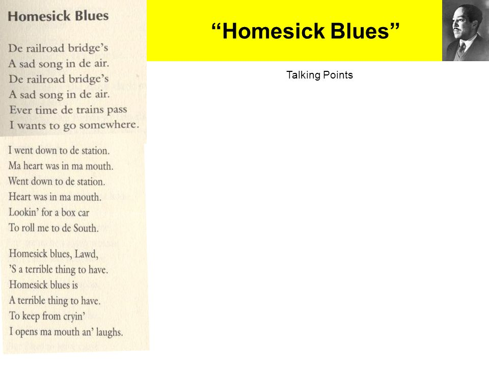 Homesick Blues Talking Points