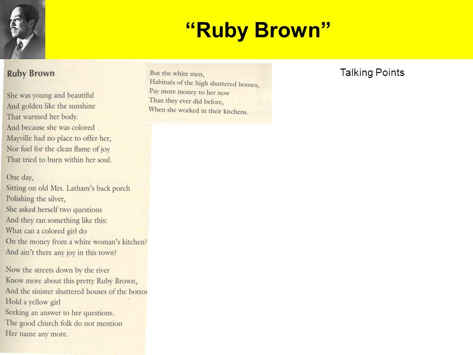 Ruby Brown Talking Points 14