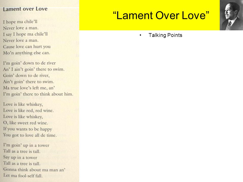 Lament Over Love Talking Points 27