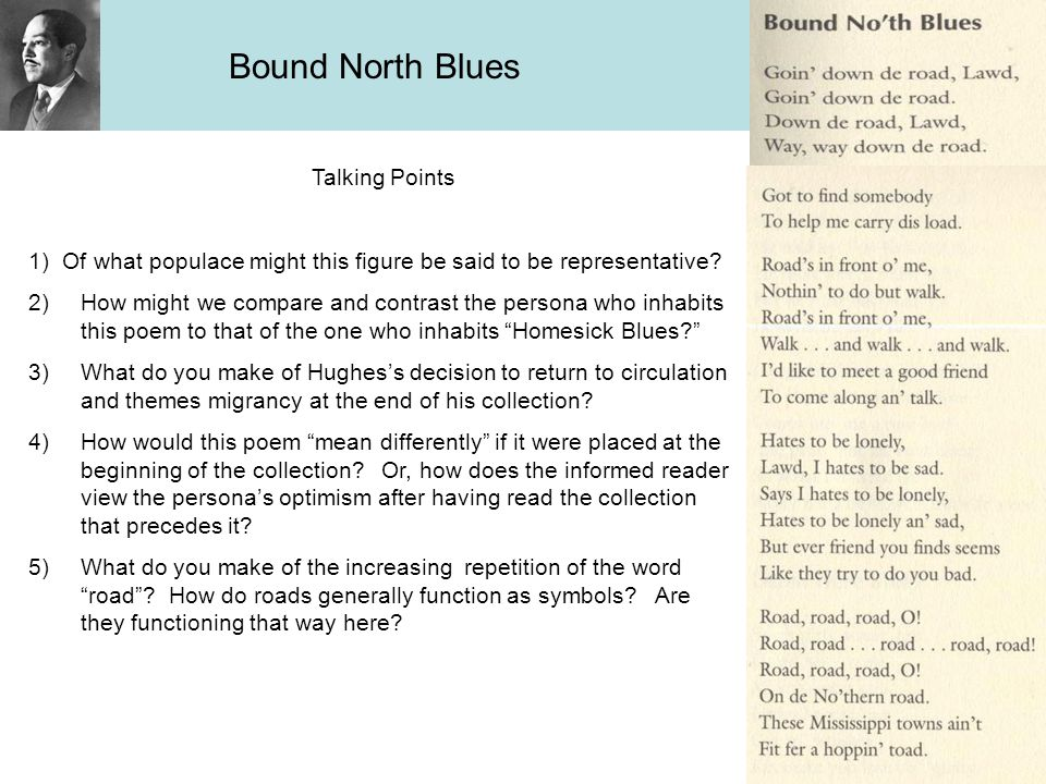 Bound North Blues Talking Points