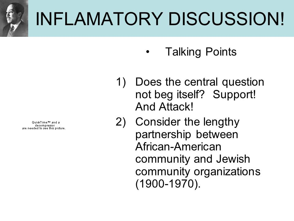 INFLAMATORY DISCUSSION!