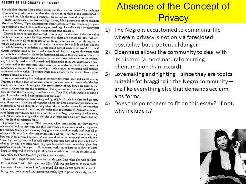 Absence of the Concept of Privacy