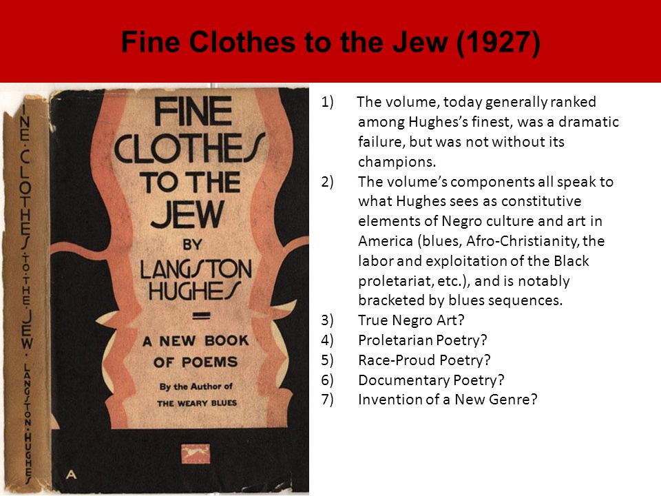 Fine Clothes to the Jew (1927)