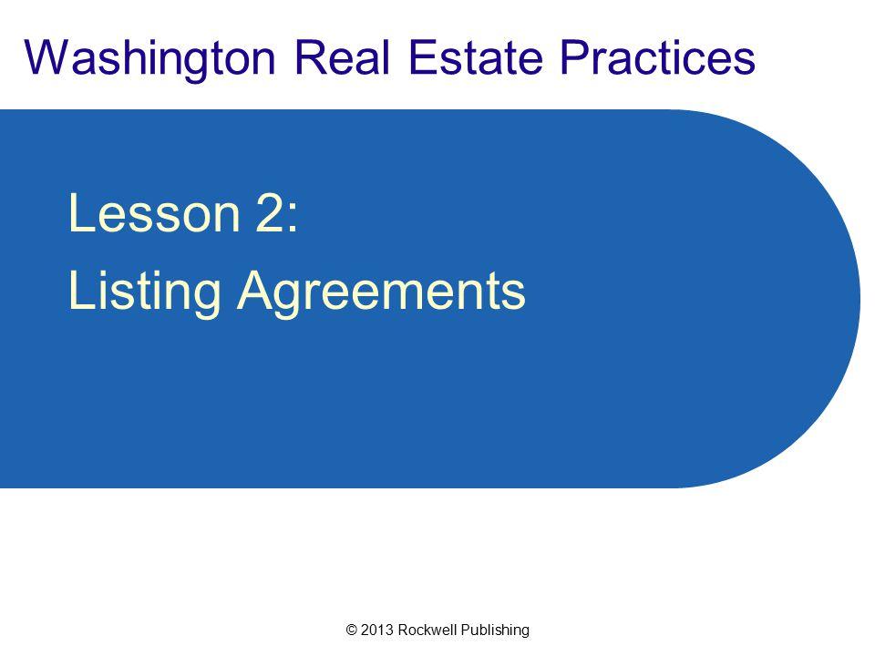 Washington Real Estate Practices