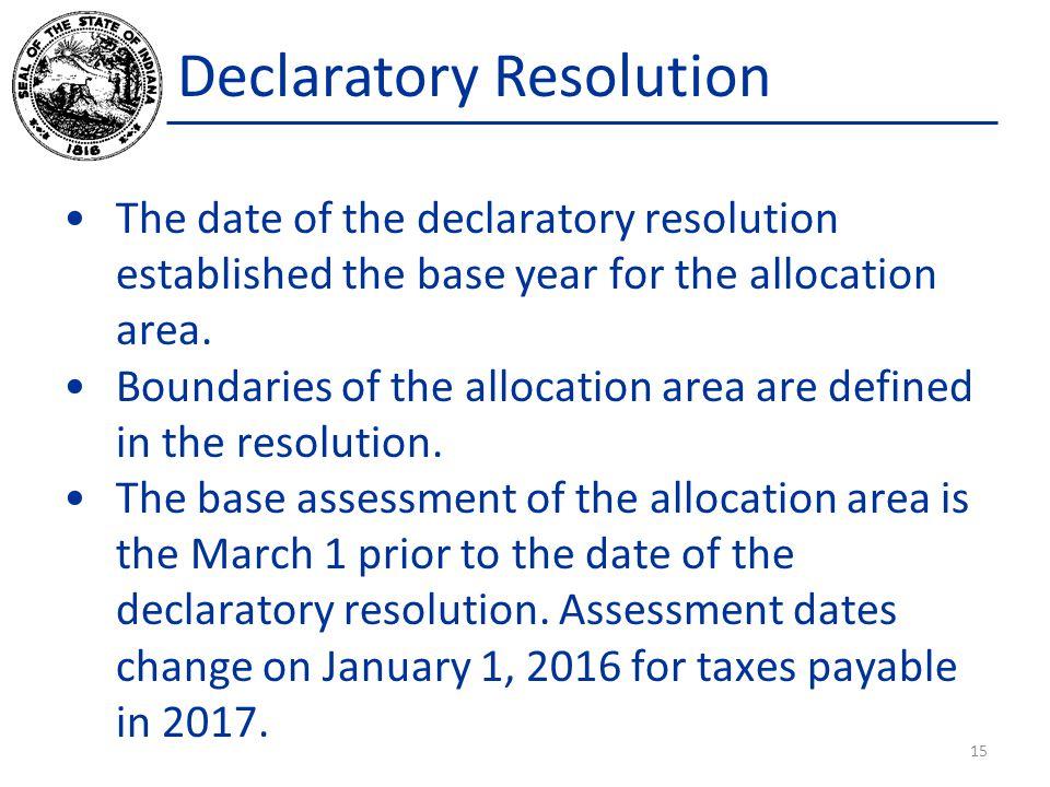 Declaratory Resolution