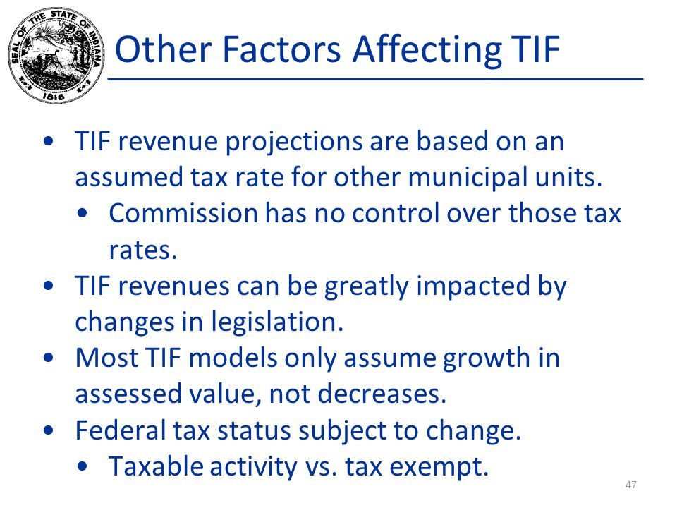 Other Factors Affecting TIF