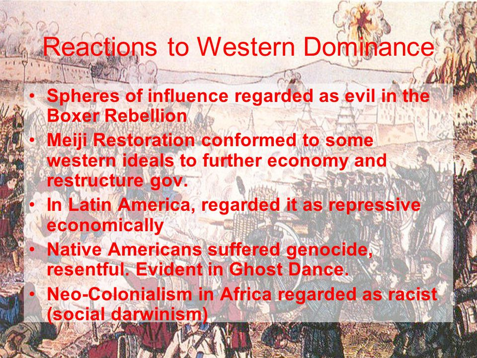 Reactions to Western Dominance