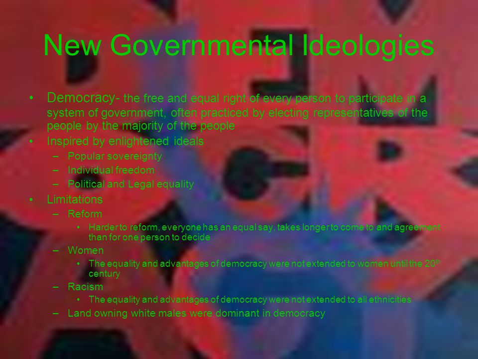 New Governmental Ideologies