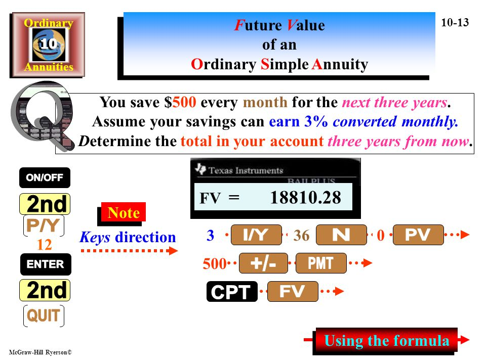 Future Value of an Ordinary Simple Annuity