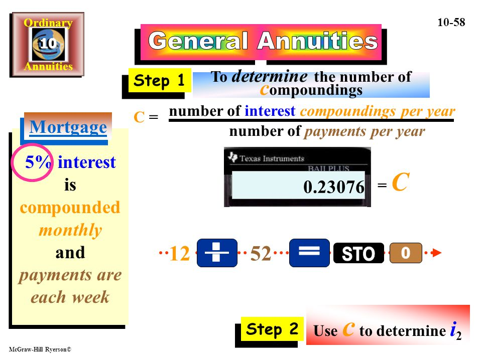 General Annuities . = STO 12 52 Mortgage
