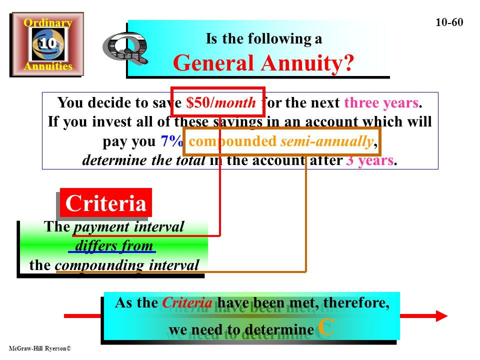 Q Criteria Is the following a General Annuity