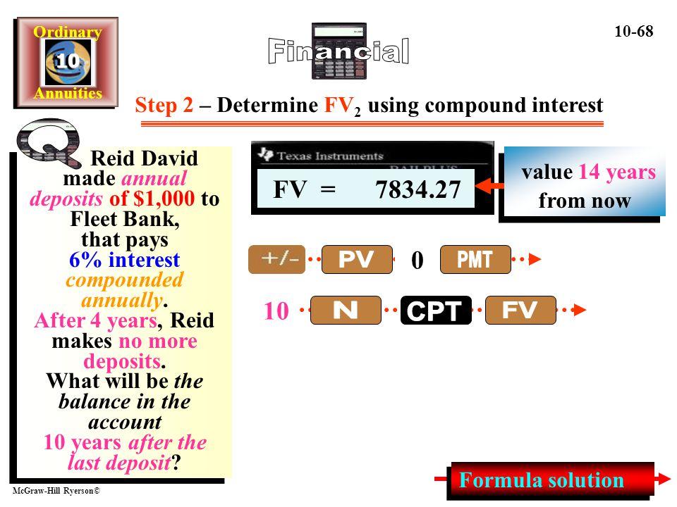 Step 2 – Determine FV2 using compound interest