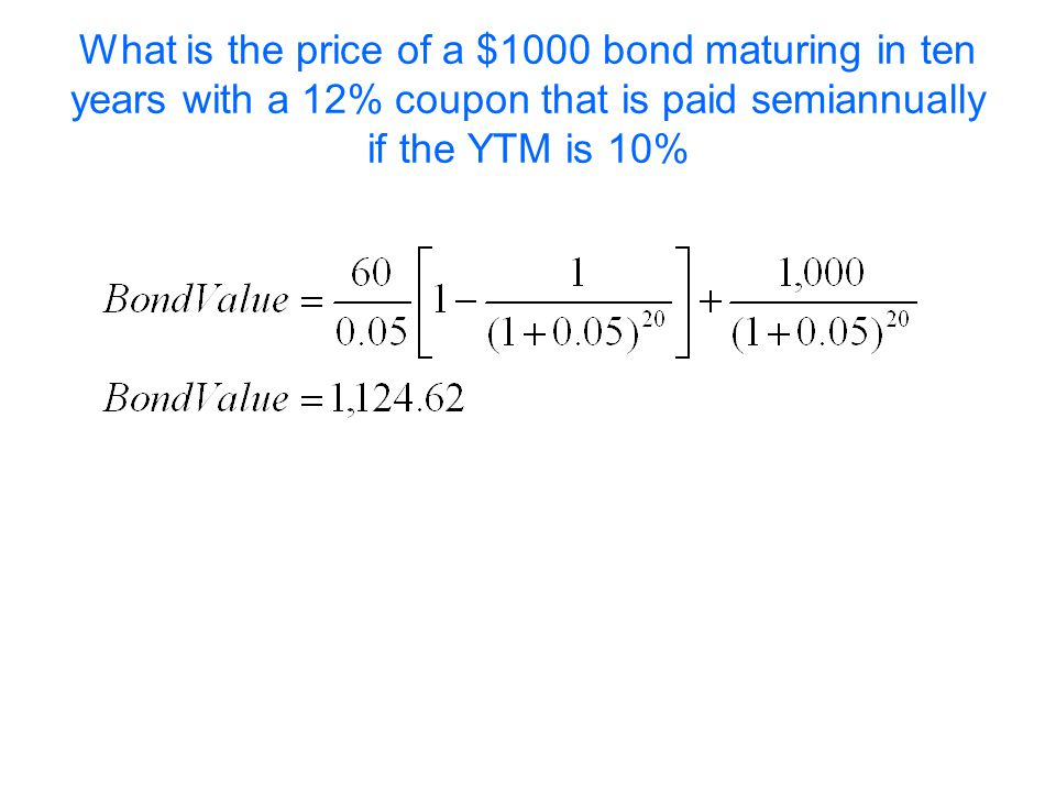 Moeller-Finance What is the price of a $1000 bond maturing in ten years with a 12% coupon that is paid semiannually if the YTM is 10%