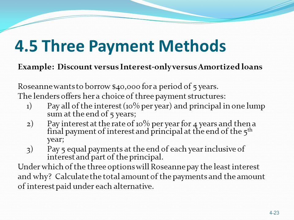 4.5 Three Payment Methods